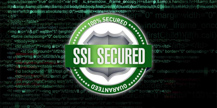 Safe, secure website design with SSL certificate