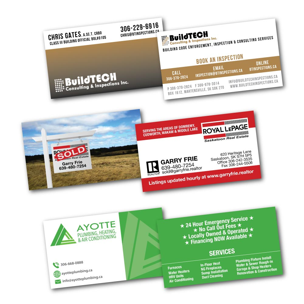 Double-sided business cards design & print