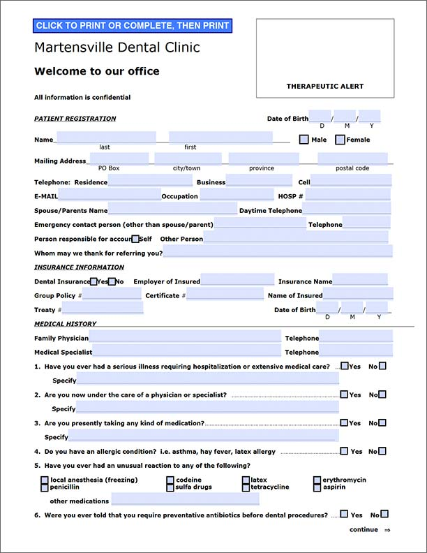 Electronic fillable PDF form design