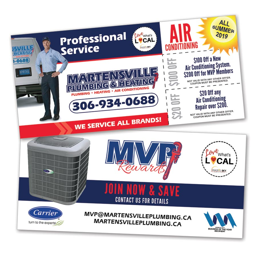 Flyer coupons for plumbing company