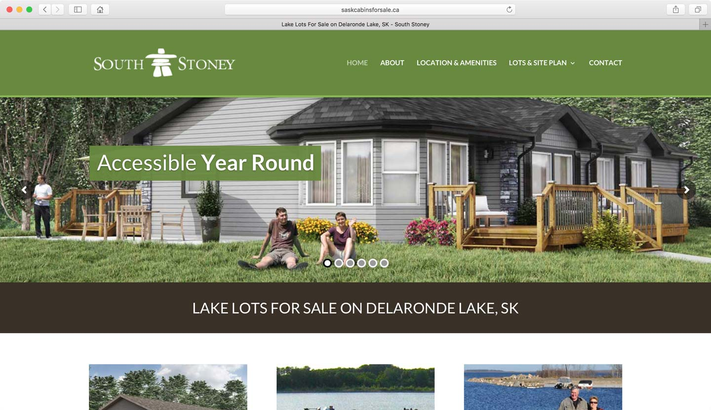 Media firm who designs websites for real estate land developments
