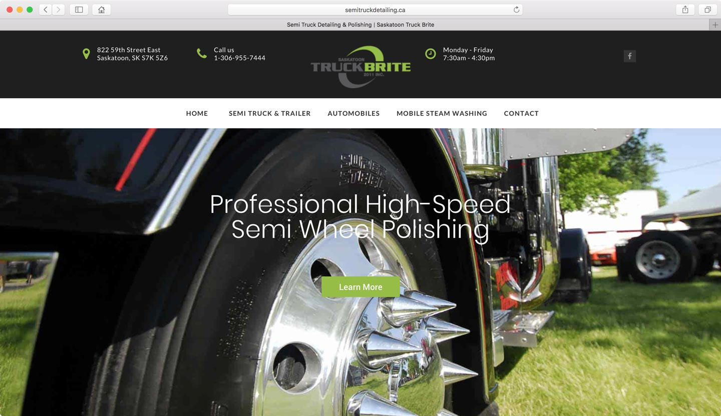 Vehicle detailing website design Burnaby