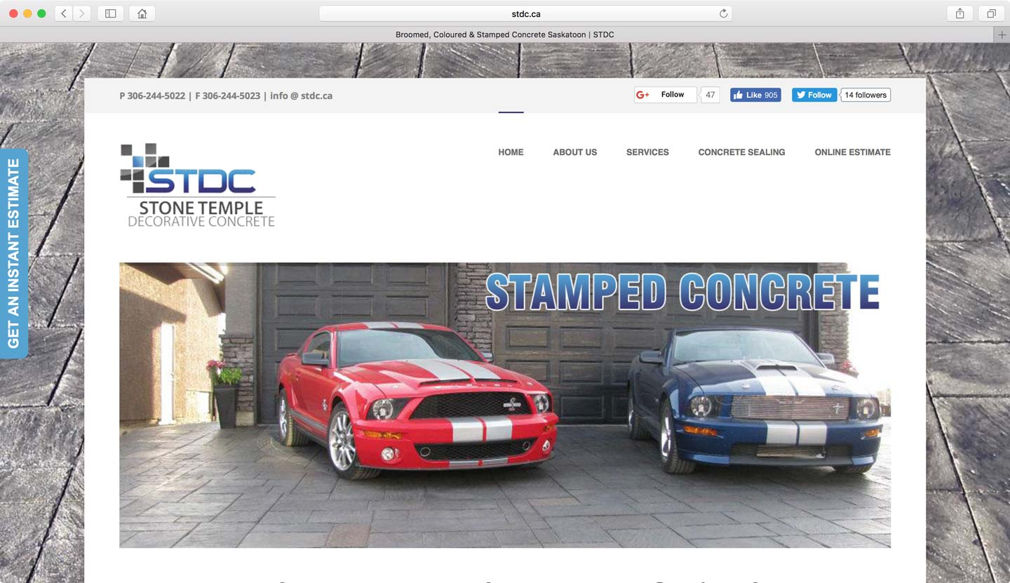 Website design for construction companies Edmonton
