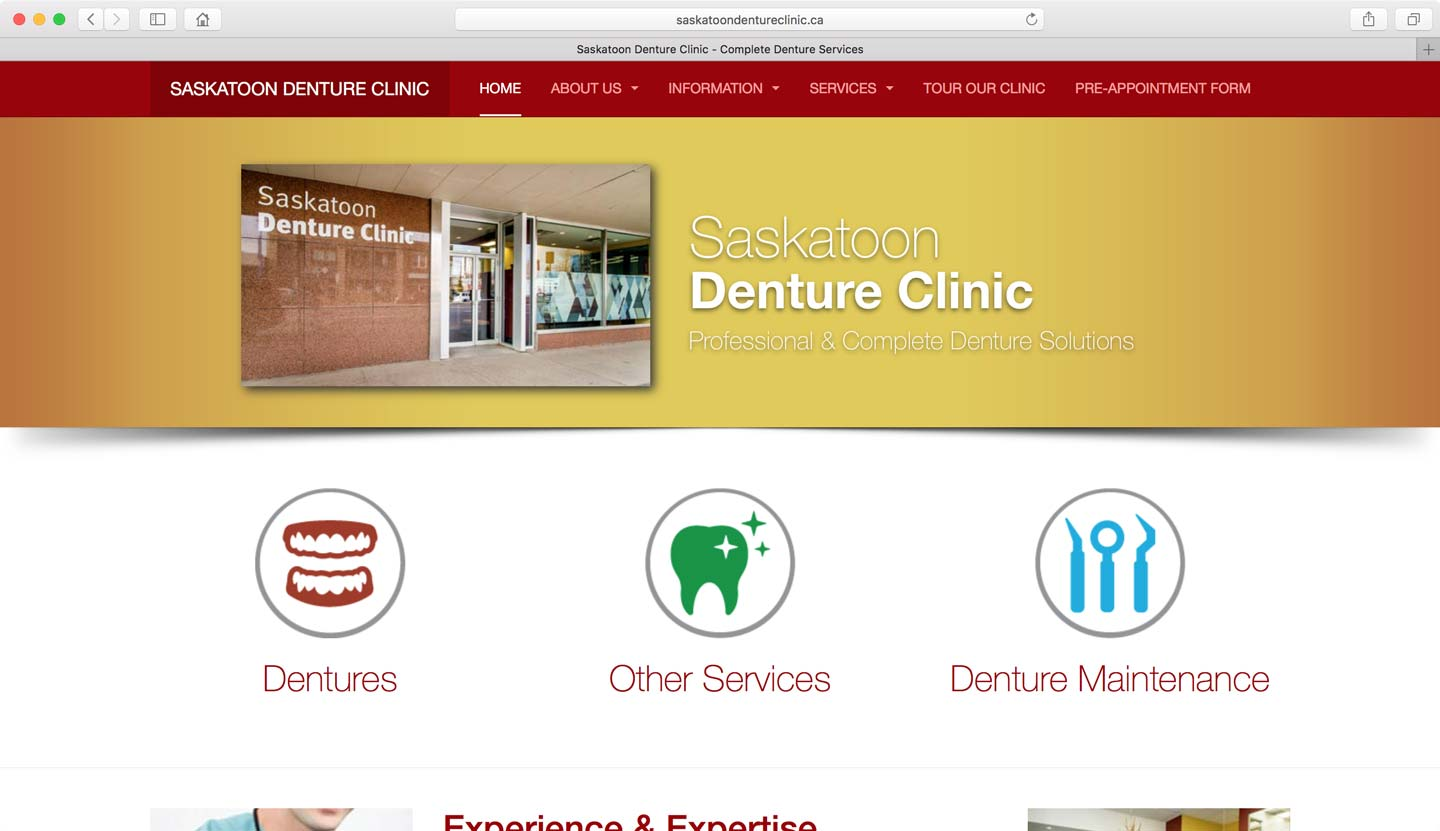WordPress website design for denturists Vancouver