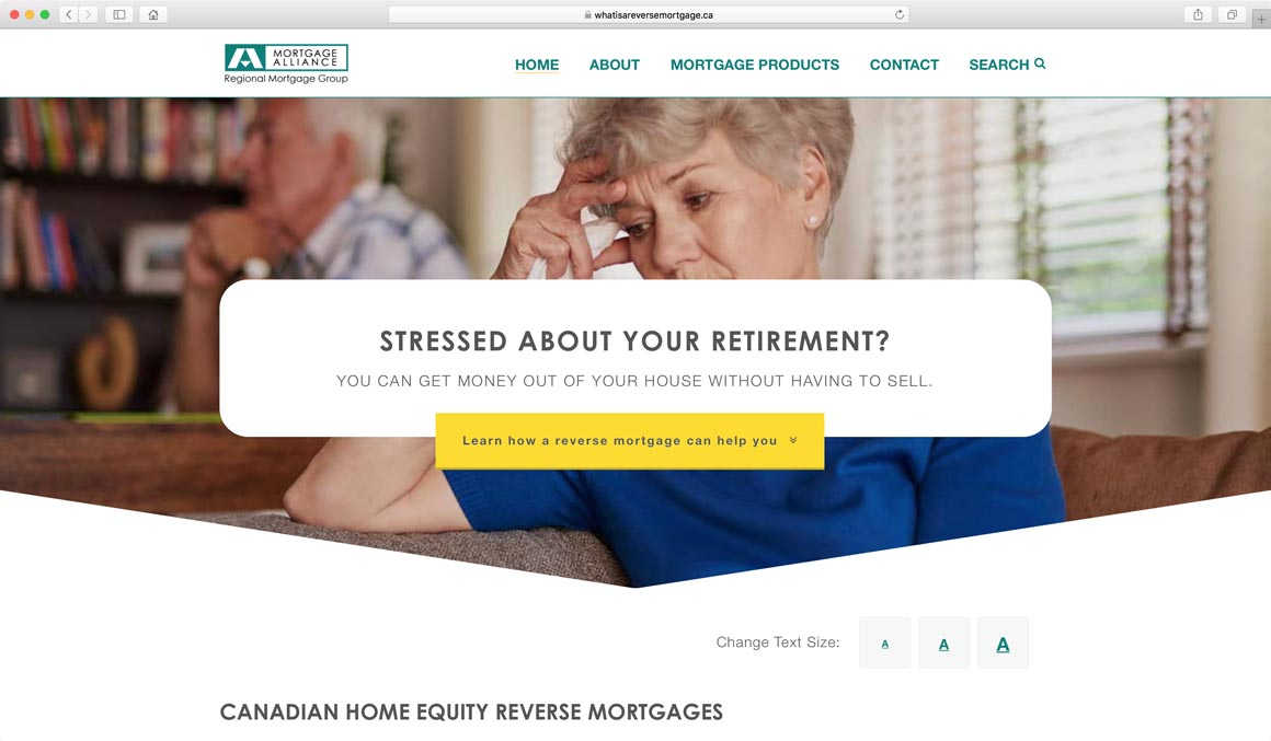 Website design for Red Deer, Alberta Mortgage Broker