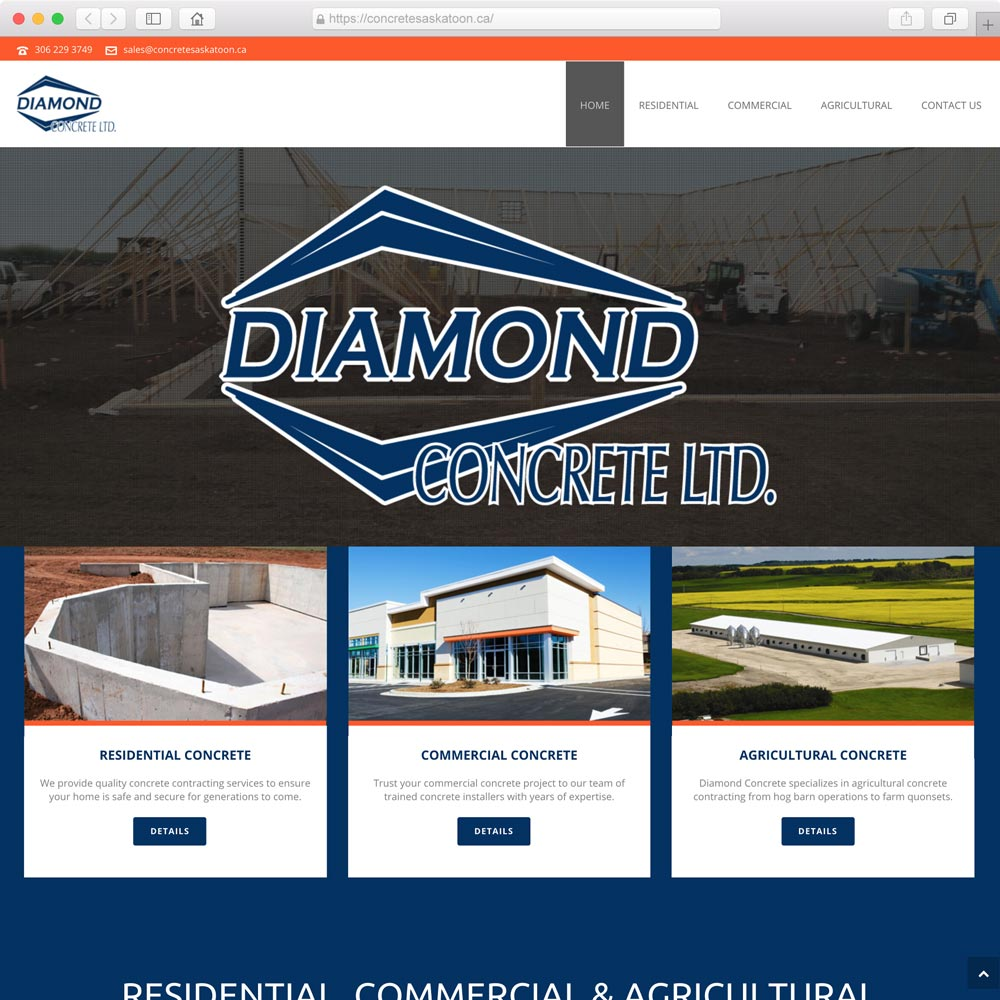 Concrete construction web design