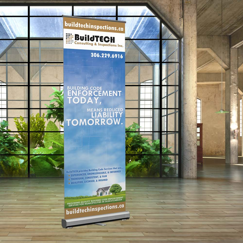 Construction company banners