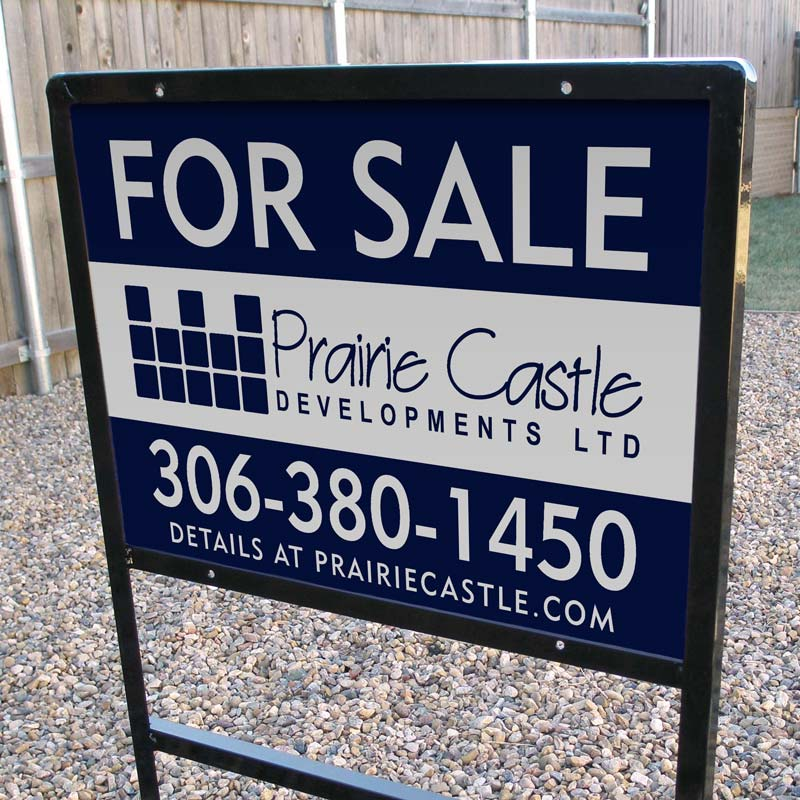 Home builder for sale signs