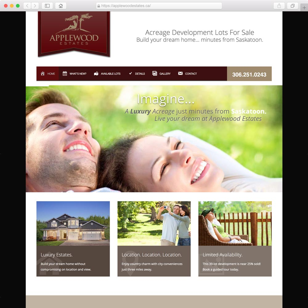 Home builder webdesign