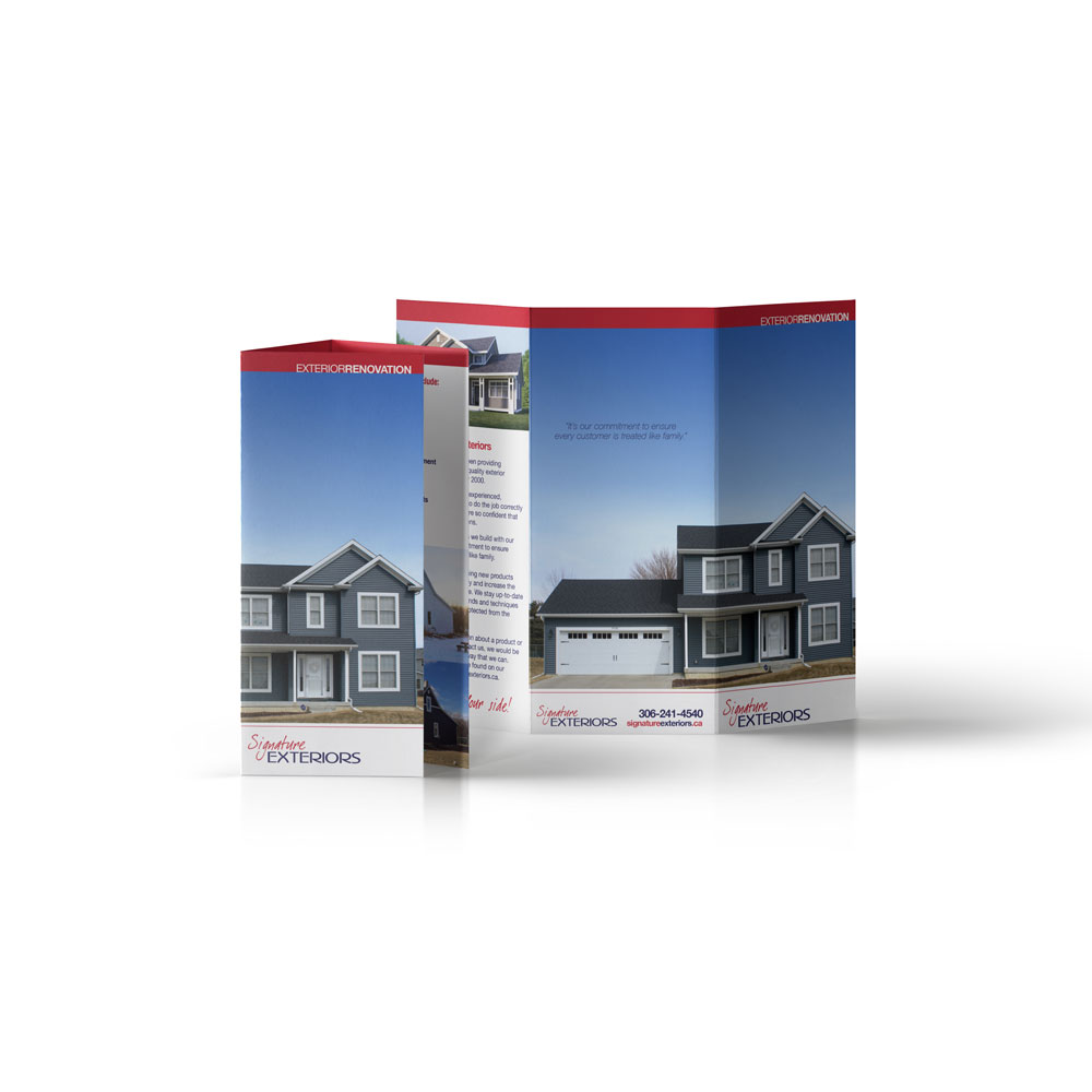 Roofing marketing materials