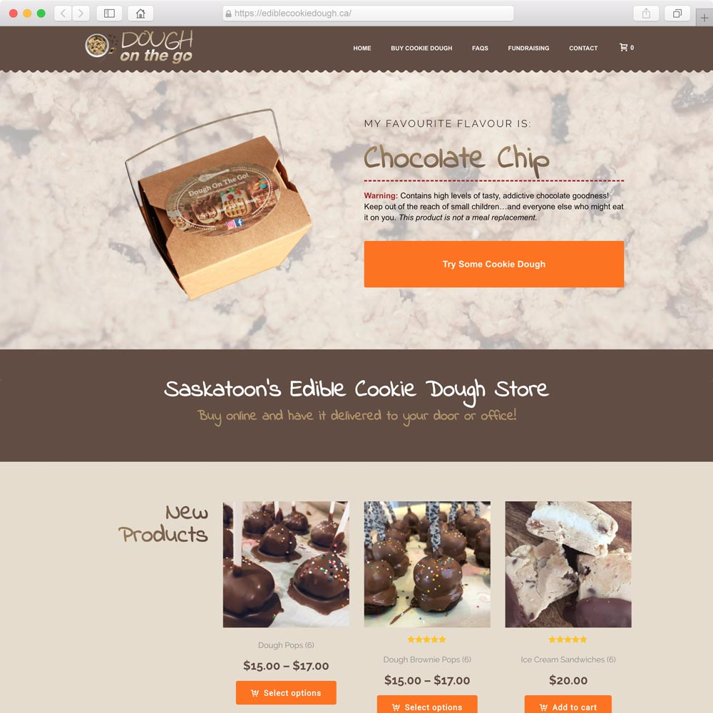 Web design for food product